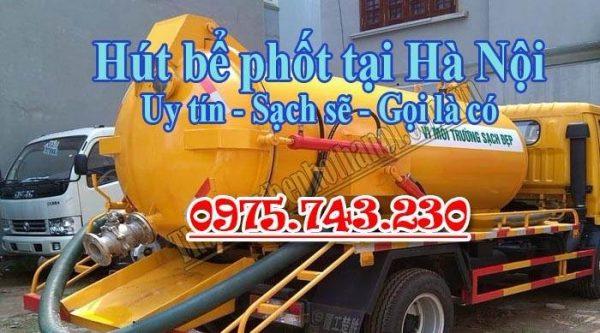 Bảng báo giá hút bể phốt Hà Nội chuẩn nhất 2018