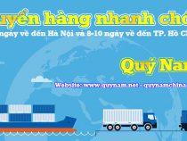 Dịch vụ chuyển hàng Trung Quốc về Hồ Chí Minh