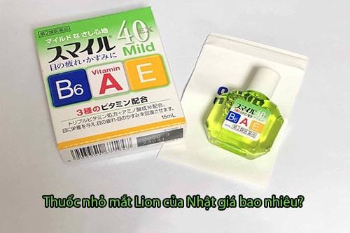 Thuốc nhỏ mắt Lion 40 Ex Mild giá bao nhiêu-3