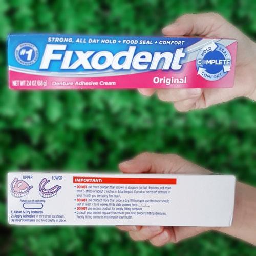 Cách sử dụng keo dán răng giả Fixodent-2