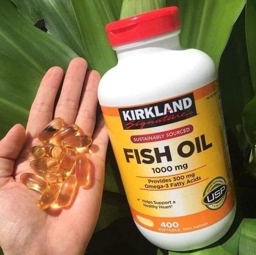 Review viên uống dầu cá Omega 3 Fish Oil 1000mg Kirkland-4