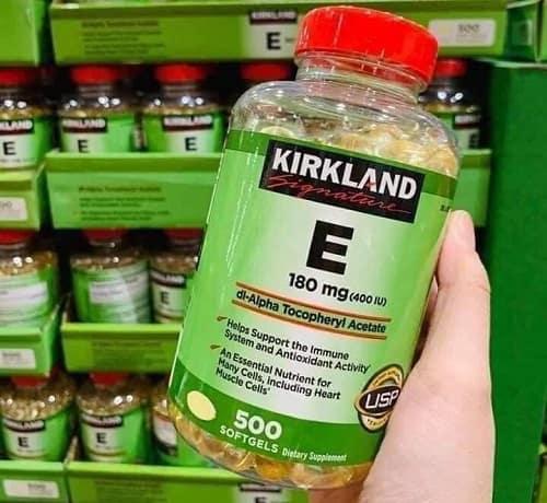 Vitamin E Kirkland thật giả phân biệt như thế nào?-2