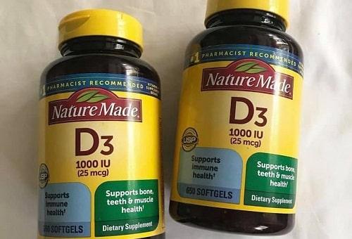 Tác dụng thuốc D3 1000IU Nature Made là gì?-1