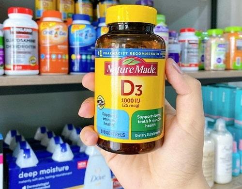 Tác dụng thuốc D3 1000IU Nature Made là gì?-2