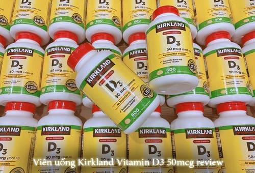 Viên uống Kirkland Vitamin D3 50mcg review-1
