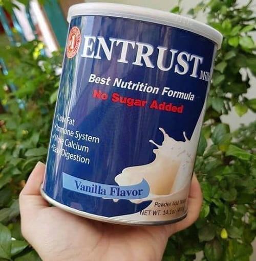 Review sữa Entrust 400g cho người tiểu đường của Mỹ-2